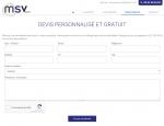 Page devis gratuit du site Internet MSV Sarl à Vannes dans le Morbihan 56