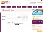 Page demande de devis du site Internet Mutuelles SMIE à Vannes dans le Morbihan 56
