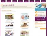 Page contrats du site Internet Mutuelles SMIE à Vannes dans le Morbihan 56