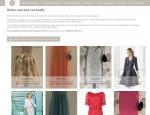 Page robes de soirée du site Internet Nicole Couture à Vannes dans le Morbihan 56