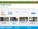 Page recherche du site Internet ParcOfolies - Parc de jeux à Vannes dans le Morbihan 56