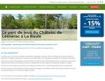Page de contenu du site Internet ParcOfolies - Parc de jeux à Vannes dans le Morbihan 56