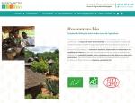 Page d'accueil du site Internet Ressources Bio importateur de fruits séchés à Vannes dans le Morbihan 56