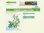 Page carte des sentiers du site Internet Sentiers en France à Vannes dans le Morbihan 56