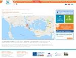 Page carte du site Internet Vedettes l'Angelus à Vannes dans le Morbihan 56