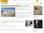 Page présentation du site Internet LYA Nautic à Vannes dans le Morbihan 56