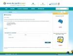 Page newsletter du site Internet Rêve de jardin à Vannes dans le Morbihan 56