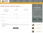 Page Contact du site Internet Kornog à Vannes dans le Morbihan 56