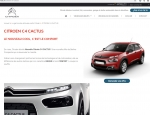 Page de contenu du site internet Citroën Locminé Moréac