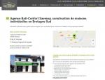 Page agence à Vannes 56 site internet responsive Bati Confort - Agence web Grouplive à Vannes et Lorient