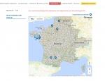 Carte des distributeurs de la boutique en ligne e-commerce Duovac - Création de sites : Grouplive à Vannes et Lorient