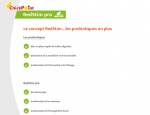 Page de contenu de l'application mobile ChickPoint