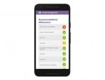 Version responsive (mobile) de l'application Android Mycoscope