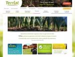 Page de contenu Terrial, web application mobile