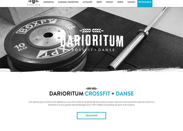 Page d'accueil du site Internet Darioritum, salle de sport à Vannes dans le Morbihan (56)