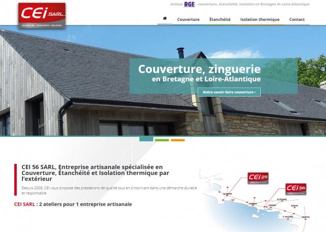 Page d'accueil du site Internet CEI 56 à Vannes dans le Morbihan 56
