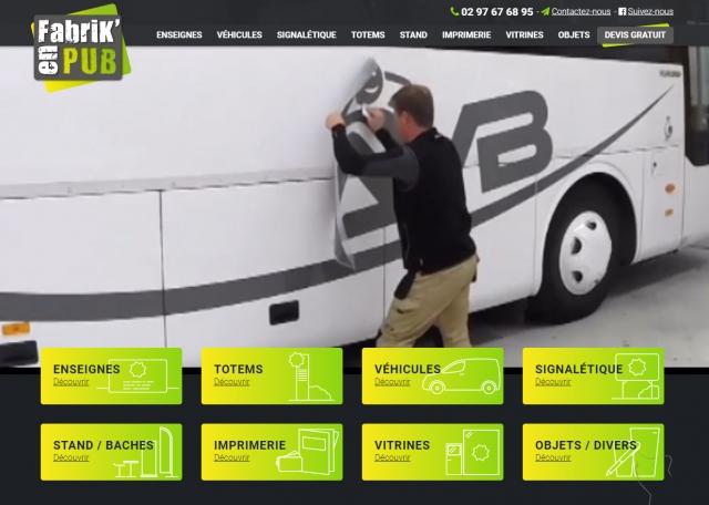Page d'accueil du site Internet Fabrikenpub, enseigne à Vannes dans le Morbihan 56