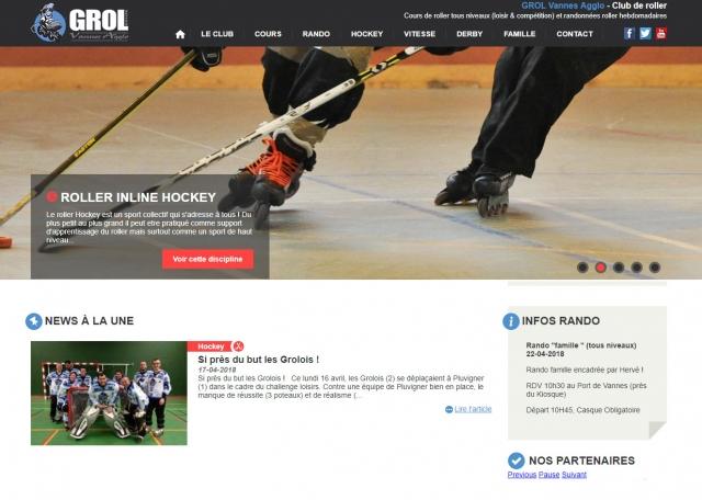 Page d'accueil du site Internet Grol, Vannes Agglo à Vannes dans le Morbihan 56