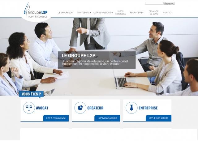 Page d'accueil du site Internet Groupe-L2P, Audit & Conseils à Vannes dans le Morbihan 56