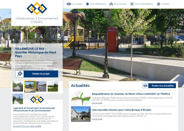 Page d'accueil du site Internet IE-Conseil à Vannes dans le Morbihan 56