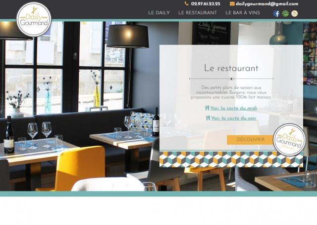 Page d'accueil du site Internet Daily Gourmand à Vannes dans le Morbihan 56