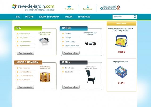 Page d'accueil du site Internet Rêve de jardin à Vannes dans le Morbihan 56
