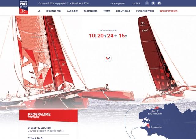 Page d'accueil du site Internet Grand Prix Valdys