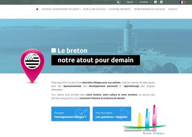 Page d'accueil du site Internet Apprendre en Breton
