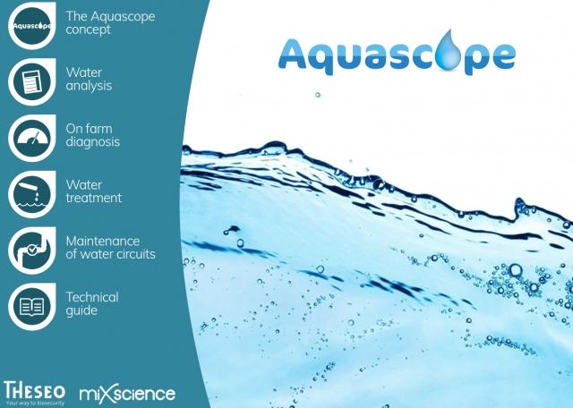 Page d'accueil de l'application mobile Aquascope