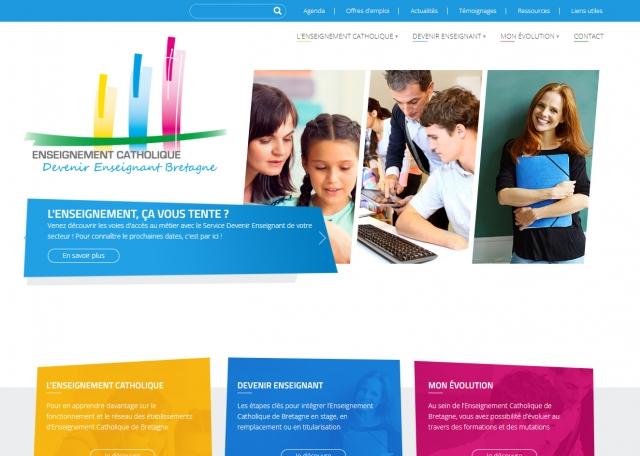 Page d'accueil du site Internet Devenir Enseignant