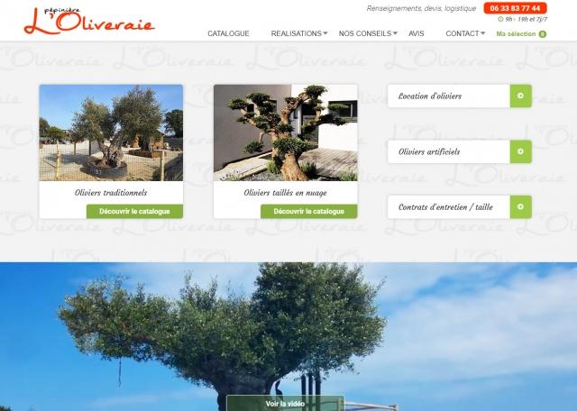 Page d'accueil du site Internet L'Oliveraie