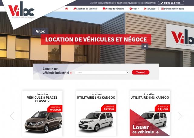 Page d'accueil du site Internet Viloc