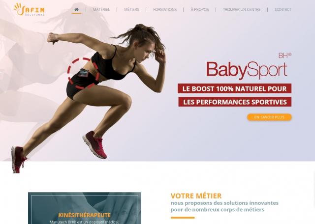 Page d'accueil du site Internet responsive Safim solutions