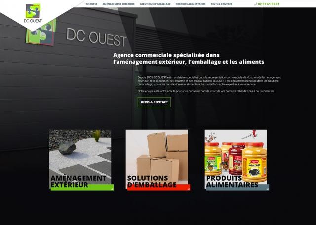 Page d'accueil site web vitrine responsive DC OUEST à Vannes 56 - Agence web Grouplive Vannes & Lorient