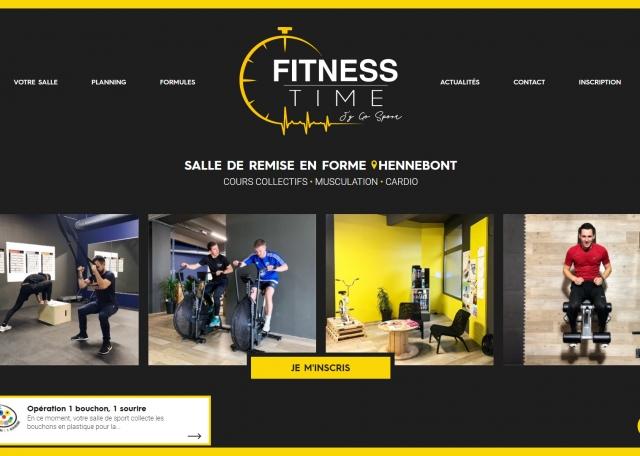 Page d'accueil Fitness Time, salle de sport à Hennebont dans le Morbihan (56)