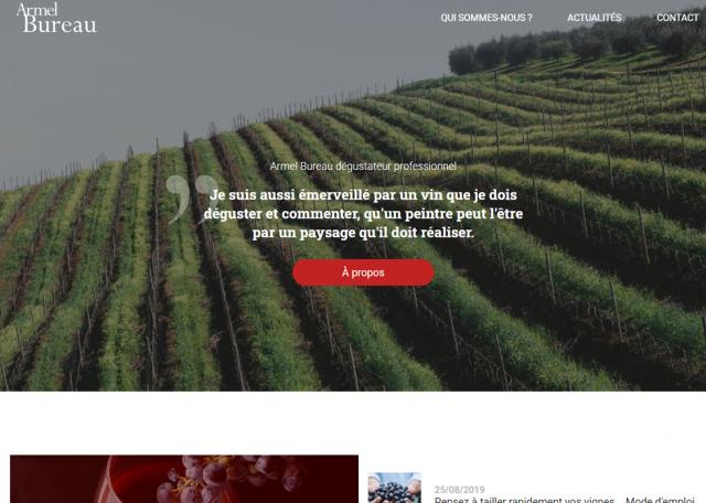 Page d'accueil du site Internet du Bureau du vin Morbihan (56)