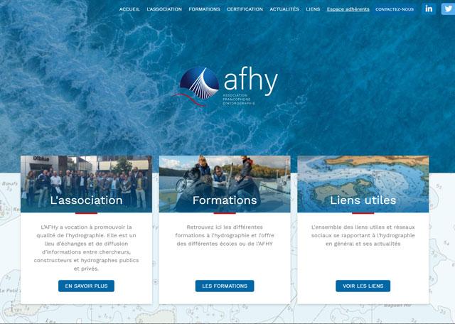 Page d'accueil du site AFHY
