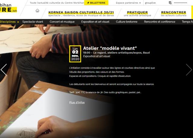 Page d'accueil du site CMC