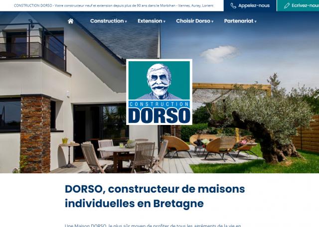 Page d'accueil construction Dorso