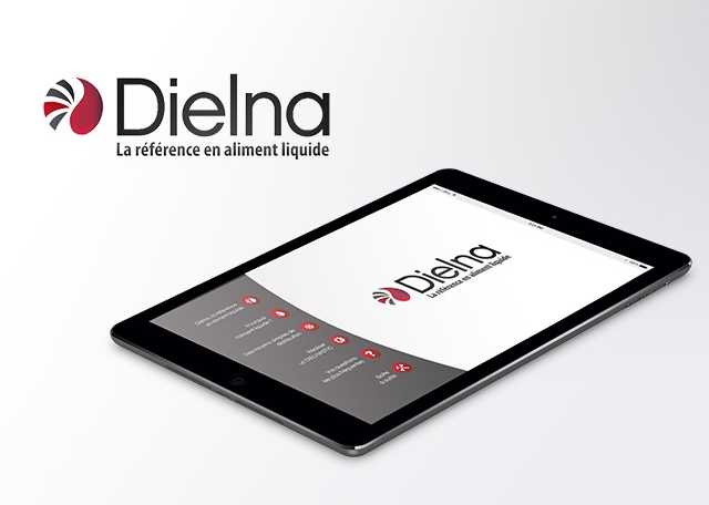 Page d'accueil de l'application tablette Dielna