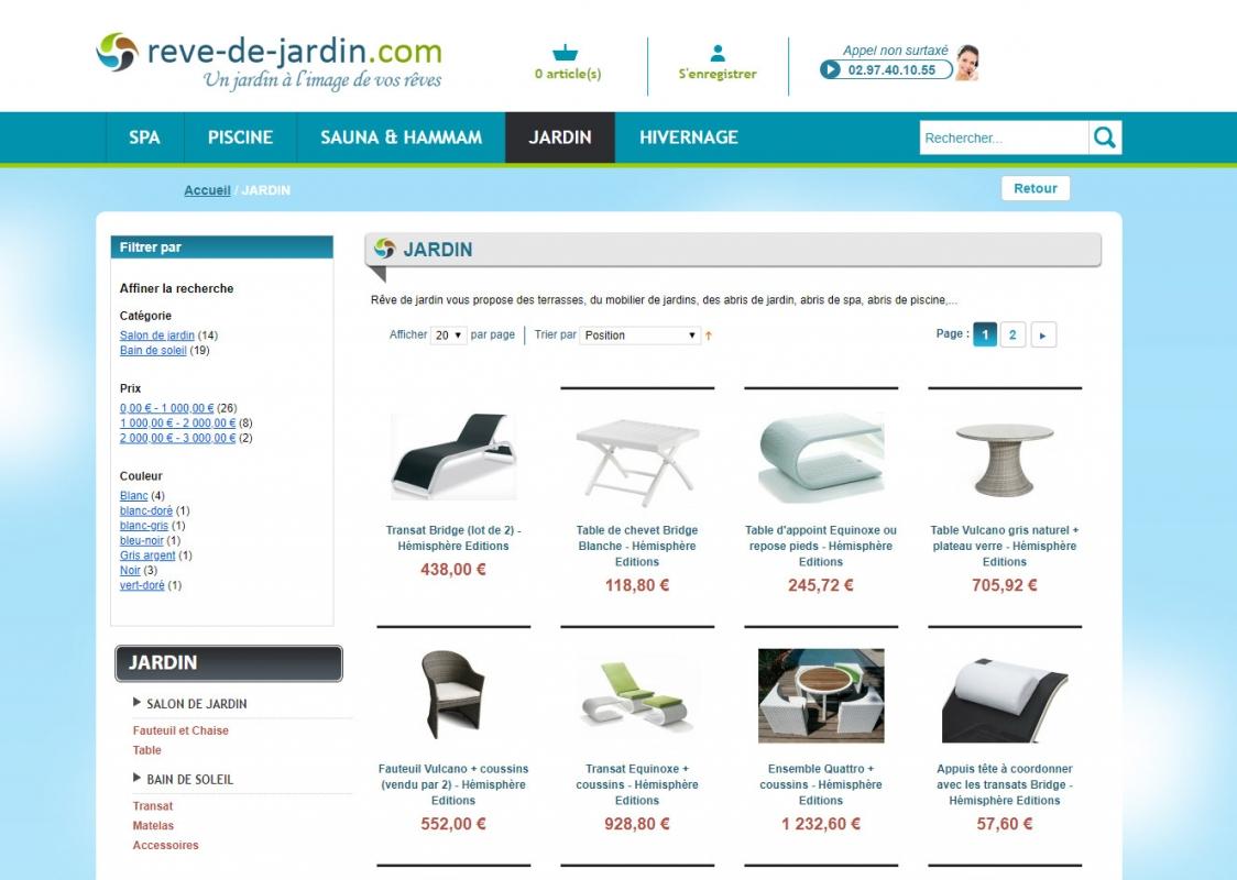 Création Site Internet Rêve de jardin - Agence web Vannes et Lorient 56
