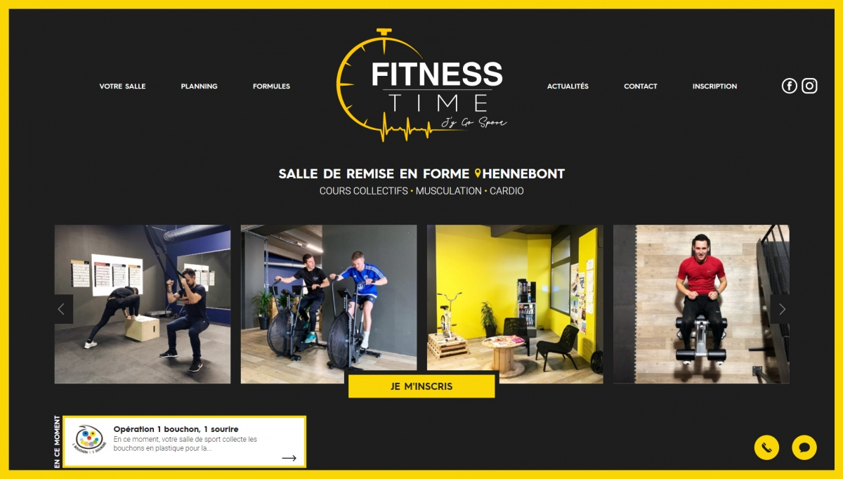 Creation Site Internet Fitness Time Agence Web Vannes